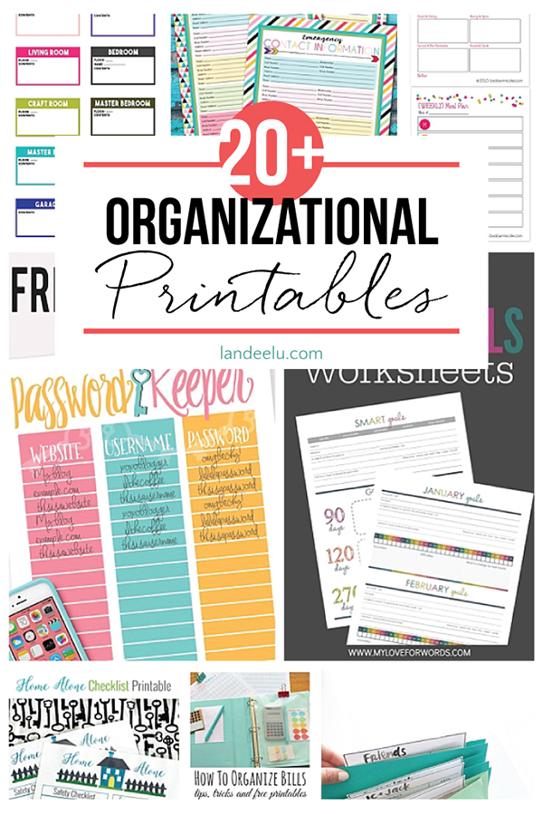photo relating to Home Organization Printables referred to as Organizational Printables -