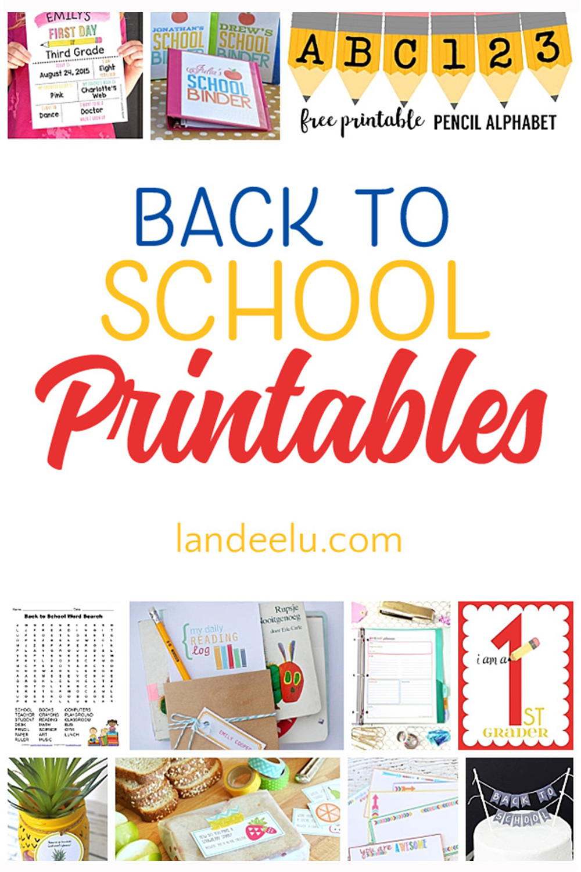 photo about Back to School Bingo Printable identify 20 Wonderful Back again toward Higher education Printables -