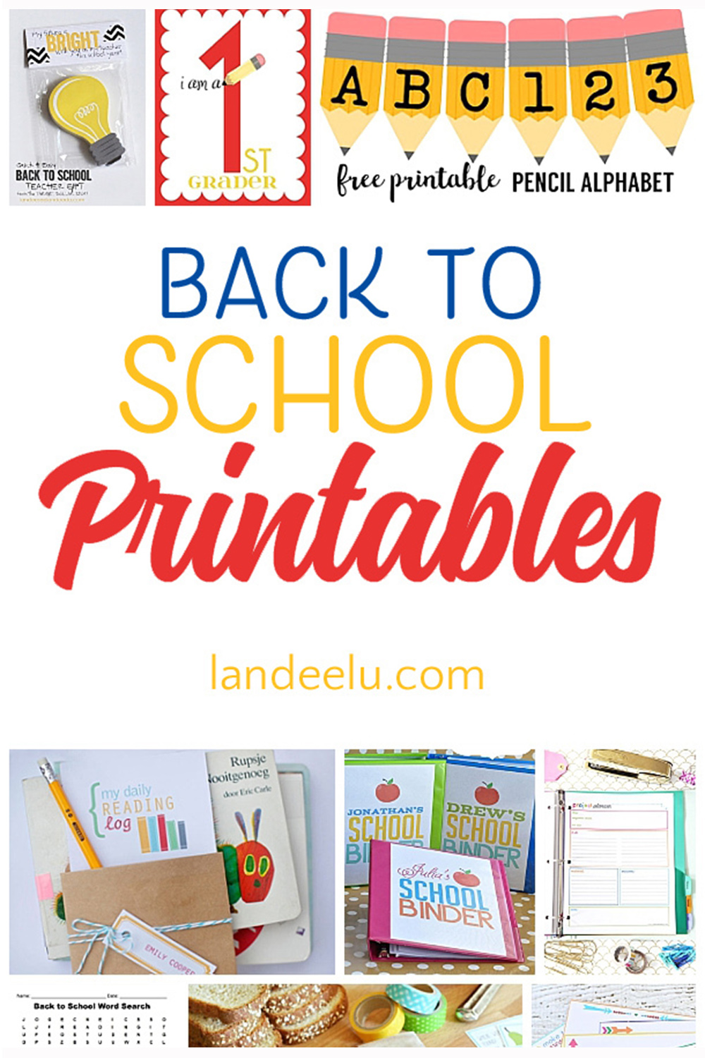 Celebrate, organize, and entertain with these awesome back to school printables! #backtoschool #printables #backtoschoolprints #schoolprintables