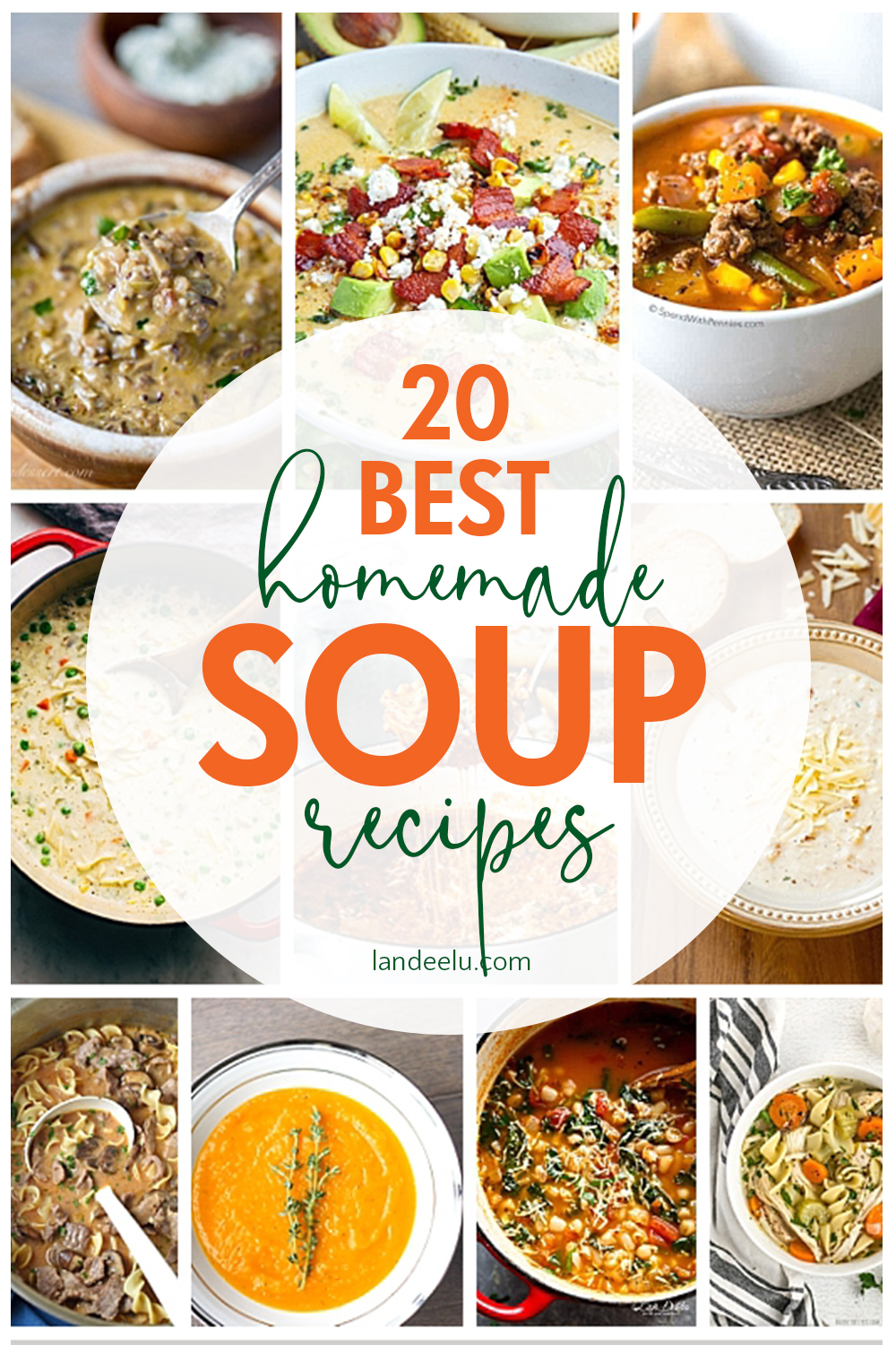Comfy, cozy best soup recipes! Delicious homemade soups sure to warm your soul! #soup #souprecipes #homemadesoup #easydinner #soups