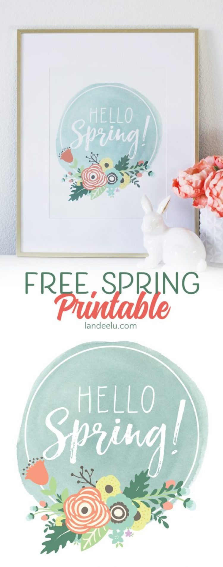 This is a darling free spring printable! I'm printing this and putting it in my entry!