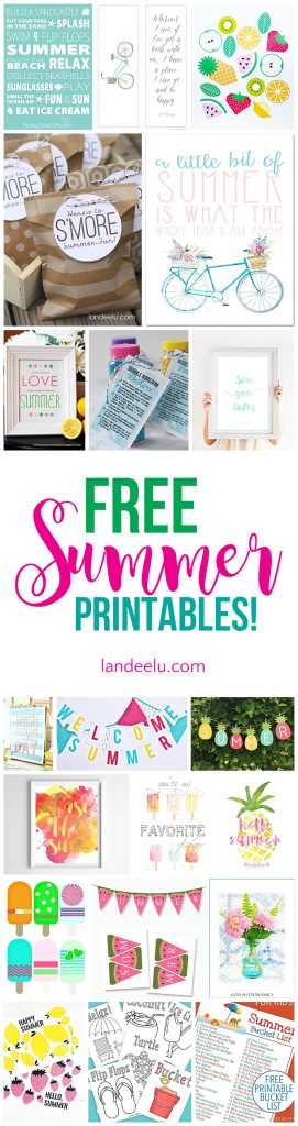 awesome collection of free summer printables games banners bucket lists and more - Free Fun Printables