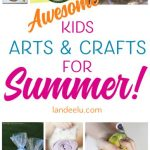 So many fun summer craft ideas for kids to keep their minds and creativity going all summer long! I love the ice cream paintings!