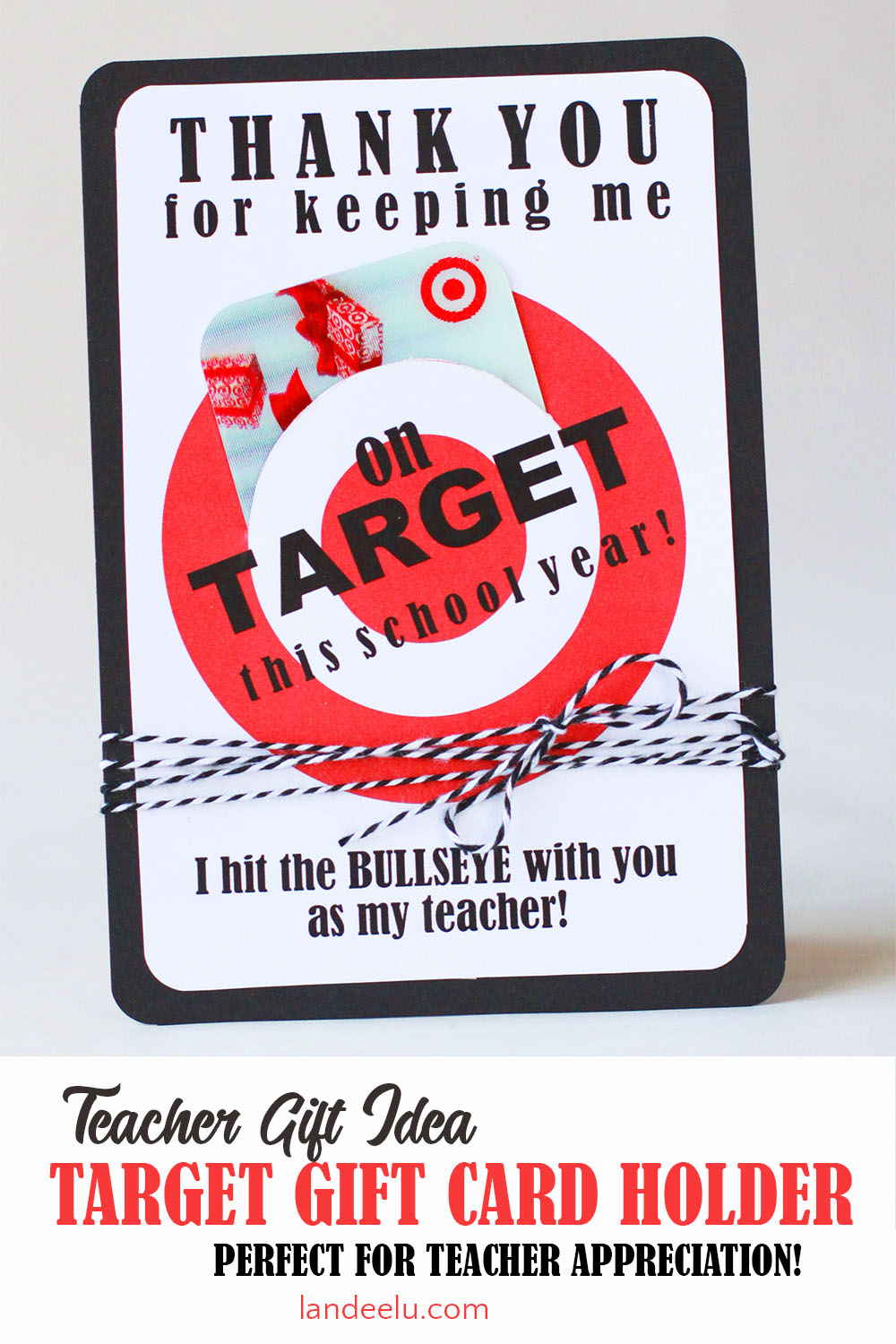 picture about Redbox Teacher Appreciation Printable referred to as Trainer Appreciation Present Principle: Focus Reward Card Holder