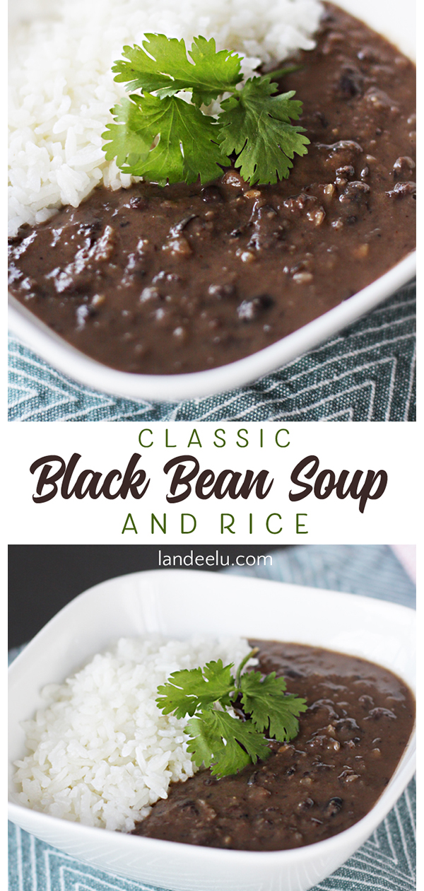 The classic black bean soup recipe you've been looking for! #blackbeansoup #souprecipes #easyrecipe #easysouprecipe