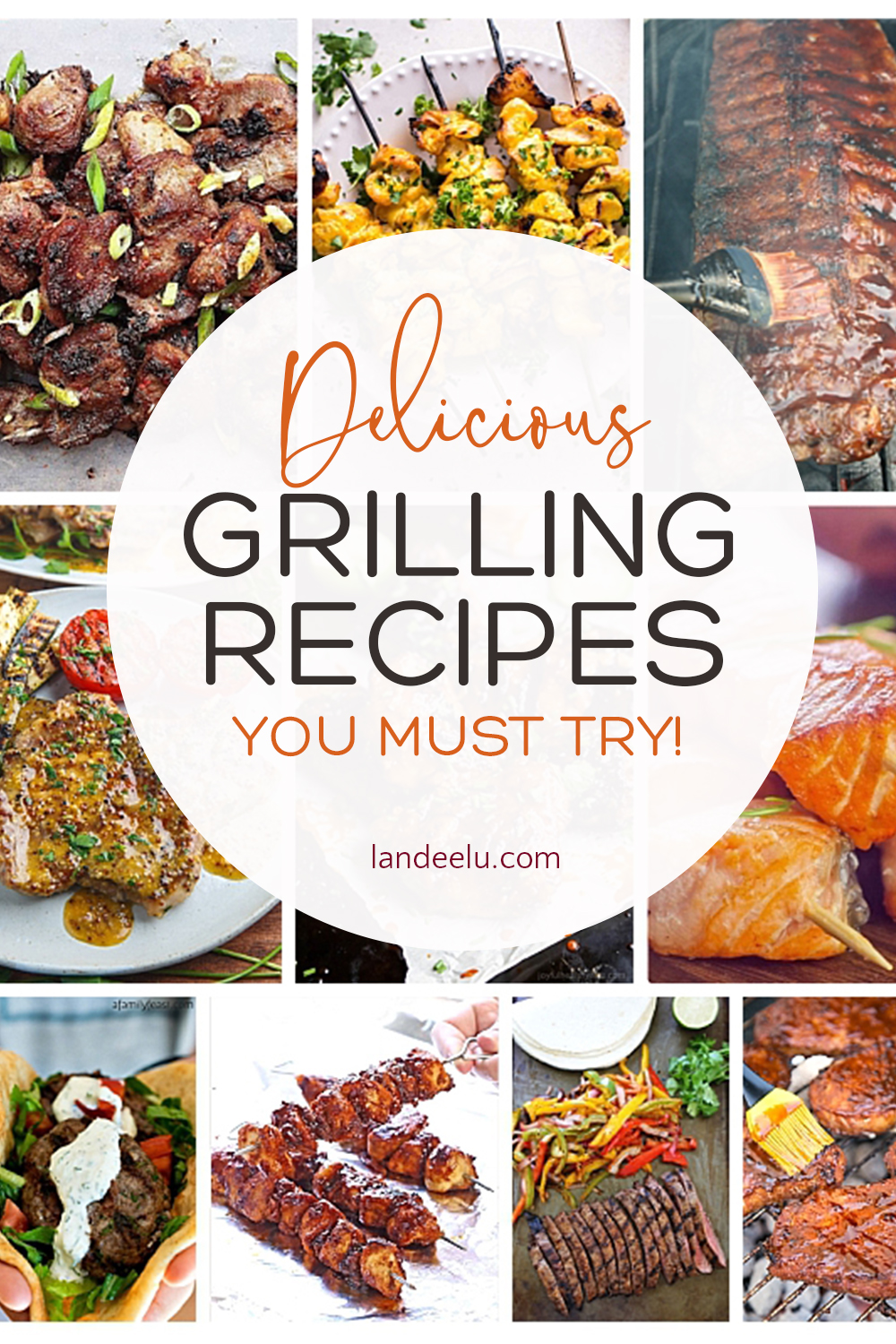 Tons of delicious grilling recipes-- beyond the basic burger! #grilling #grillingrecipes #summerrecipes #grillmaster