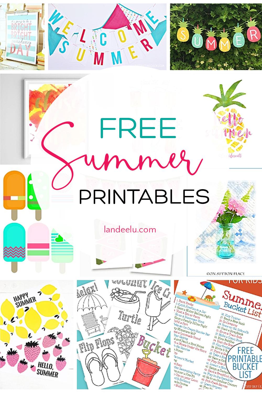 Free Summer Printables To Make Summer Fun Landeelu Com
