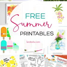 Awesome collection of free summer printables! Games, banners, bucket lists and more. So fun! #summerprintables #freesummerprints #summerart #freeprintables
