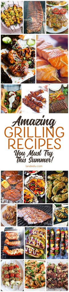 Tons of delicious grilling recipes-- beyond the basic burger!