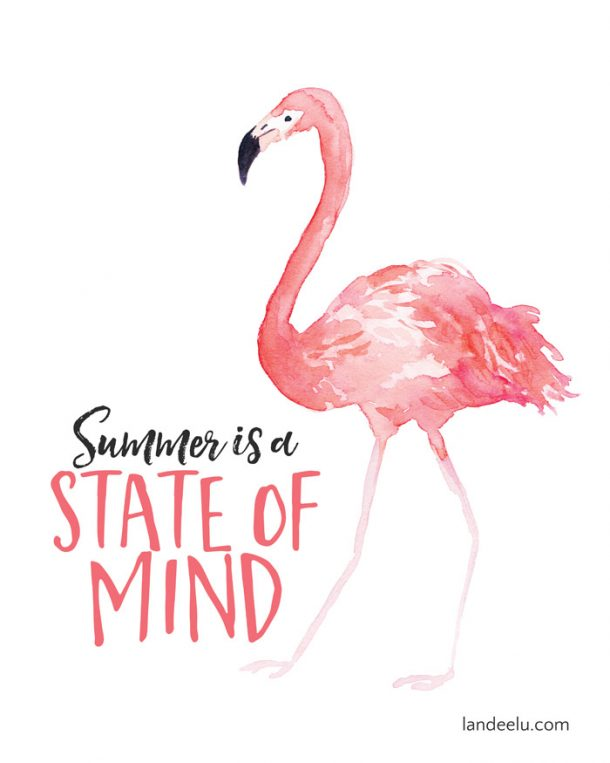 picture regarding Flamingo Printable identify Summertime is A Nation of Brain Summer season Printable -