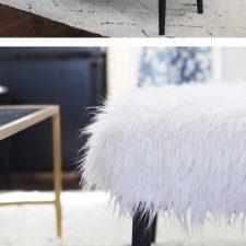 DIY Bench Makeover: Faux Fur