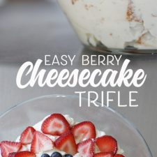 Easy Berry Cheesecake Trifle Recipe