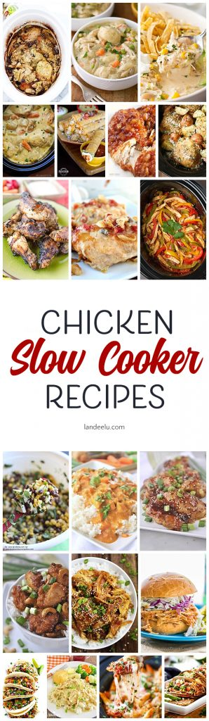 Delicious slow cooker chicken recipes to help with those busy weeknights!