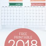 2018 Free Monthly Calendar Printable