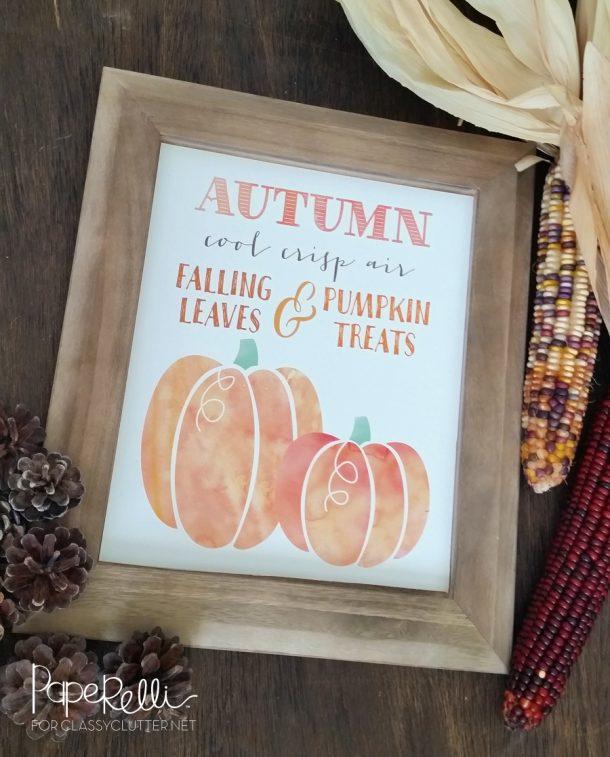 Fall Pumpkin Printable | Classy Clutter