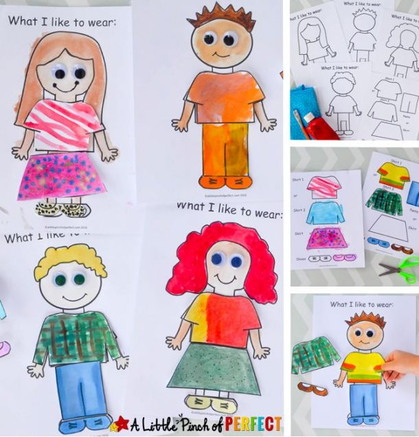 About Me: What I Like to Wear Craft and Free Template for Back to School | A Little Pinch of Perfect