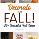 Deck the halls for fall! Beautiful ideas for DIY fall decorations!