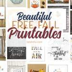 Easily decorate for fall by downloading these free fall printables and printing them. So quick and easy! #falldecor #fallprints #fallprintables #falldecorideas #easyfalldecor