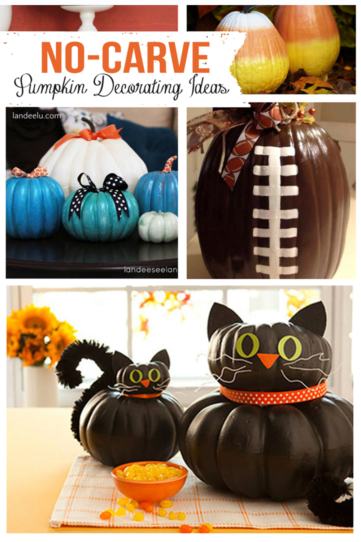 No Carve Pumpkin Decorating Ideas Landeelu Com