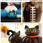 No Carve Pumpkin Decorating! Great ideas for those of us who might not LOVE carving pumpkins. :) #pumpkindecor #nocarvepumpkins #fallcrafts #pumpkin #creativepumpkins #halloween