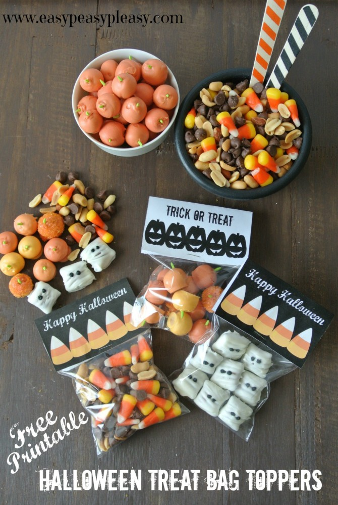 Free Printable Halloween Treat Bag Toppers | Easy Peasy Pleasy