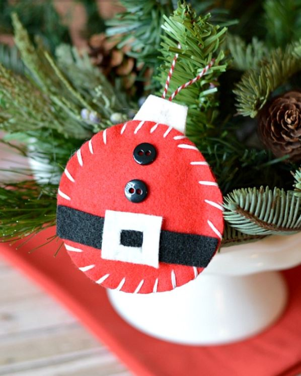 DIY Felt Santa Ornaments | A Cultivated Nest
