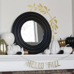 Gold, white and black -- beautiful neutral fall decorations!