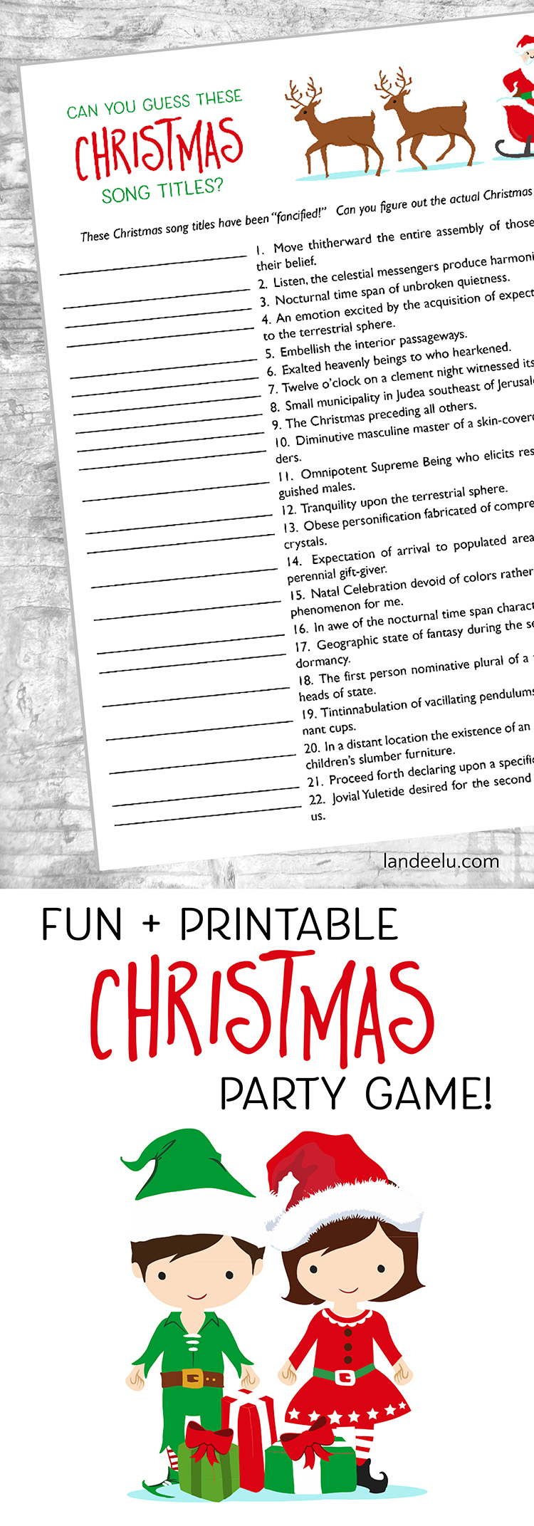 image about Free Printable Christmas Songs named 20+ Festive No cost Xmas Printables -