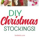 These DIY Christmas stockings are darling!