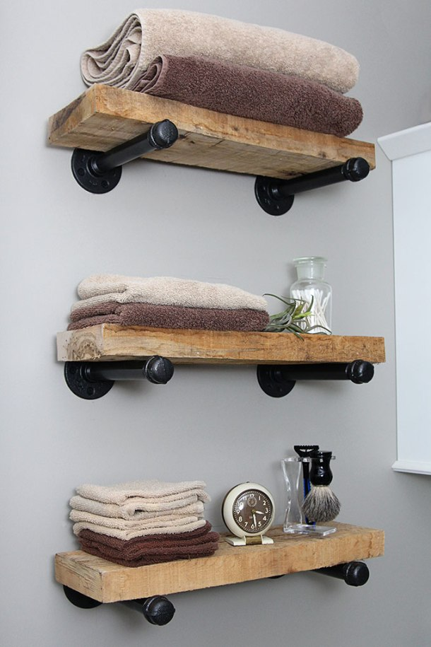 DIY Industrial Pipe Shelves | House of Hawthornes