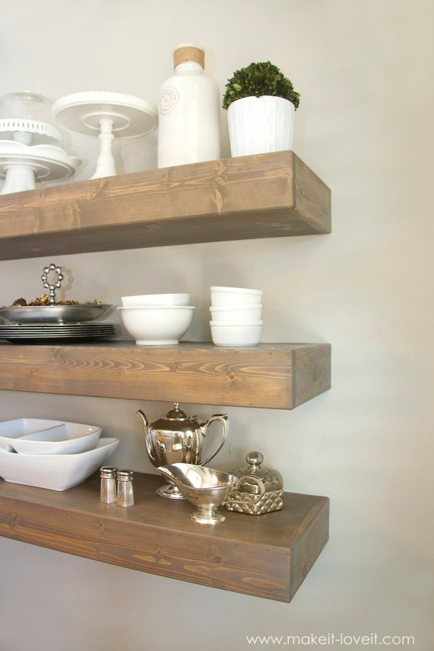 DIY Simple Floating Shelves | Make it Love it