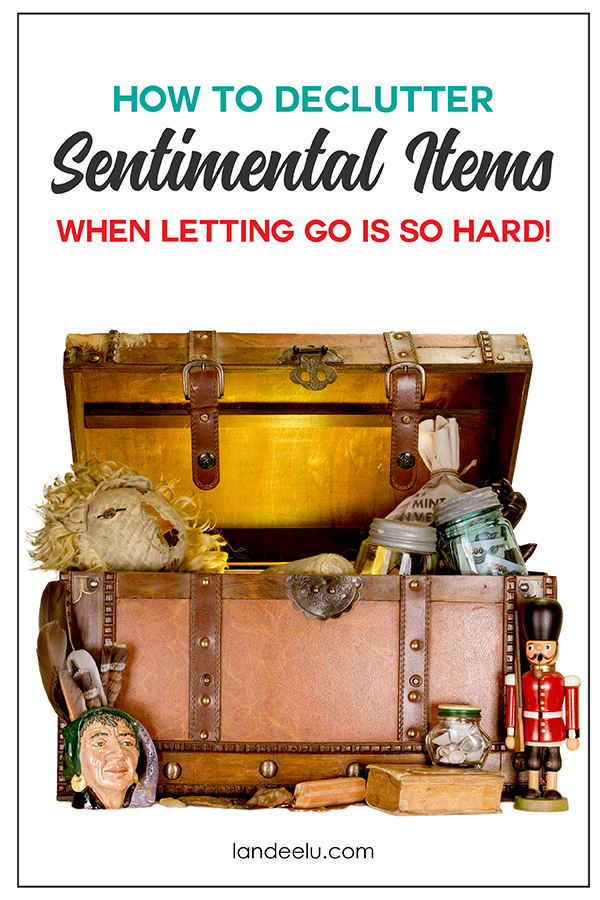 How to declutter sentimental items when it's so hard to let go! #declutter #minimalism #howtodeclutter #organization