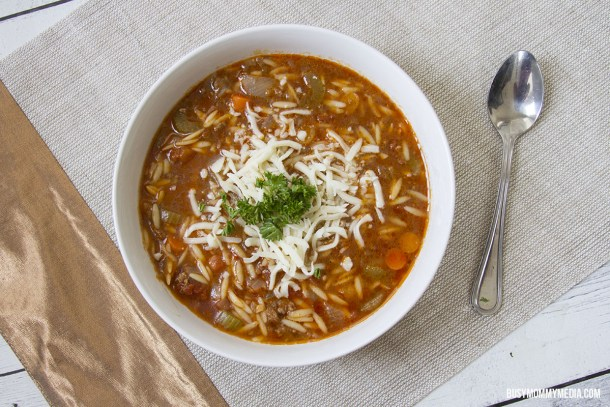 Instant Pot Hamburger Orzo Soup | Busy Mommy Media