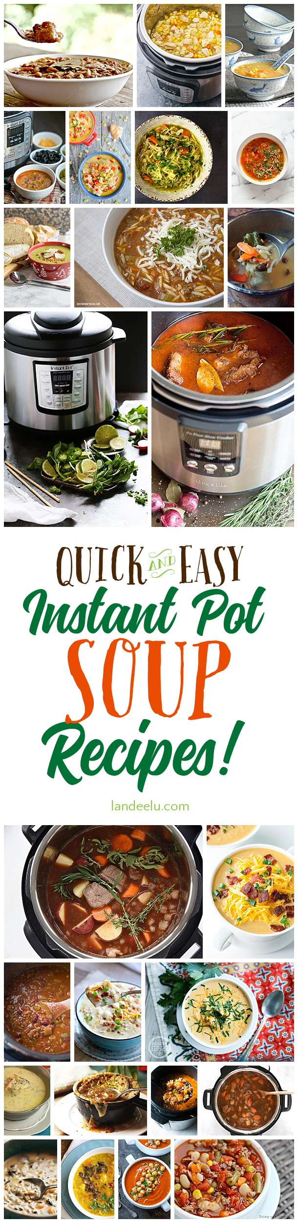 Make dinner quick, easy and delicious with these instant pot soup recipes! Yummm! #instantpot #instantpotrecipes #souprecipes #dinnerideas #pressurecooker #instantpotdinners