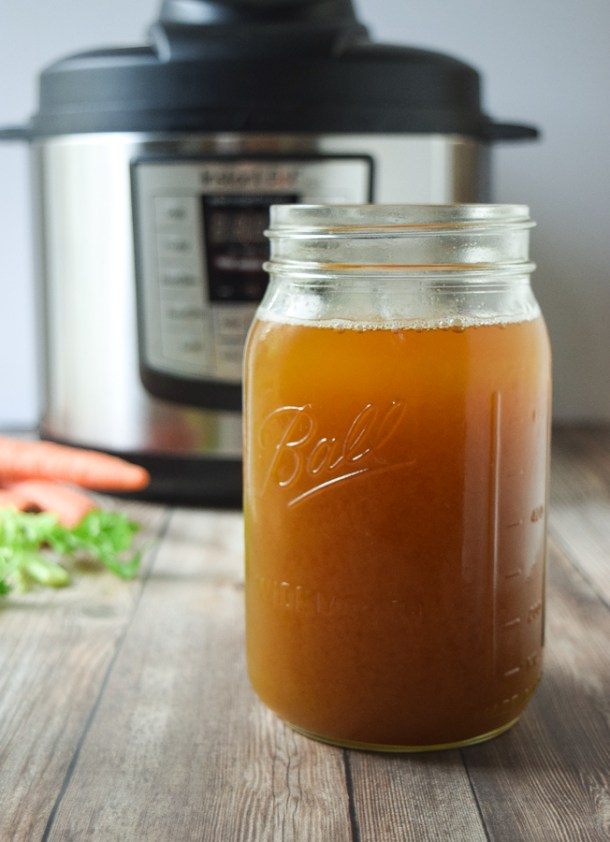 Instant Pot Vegetable Broth | Tasty Thin