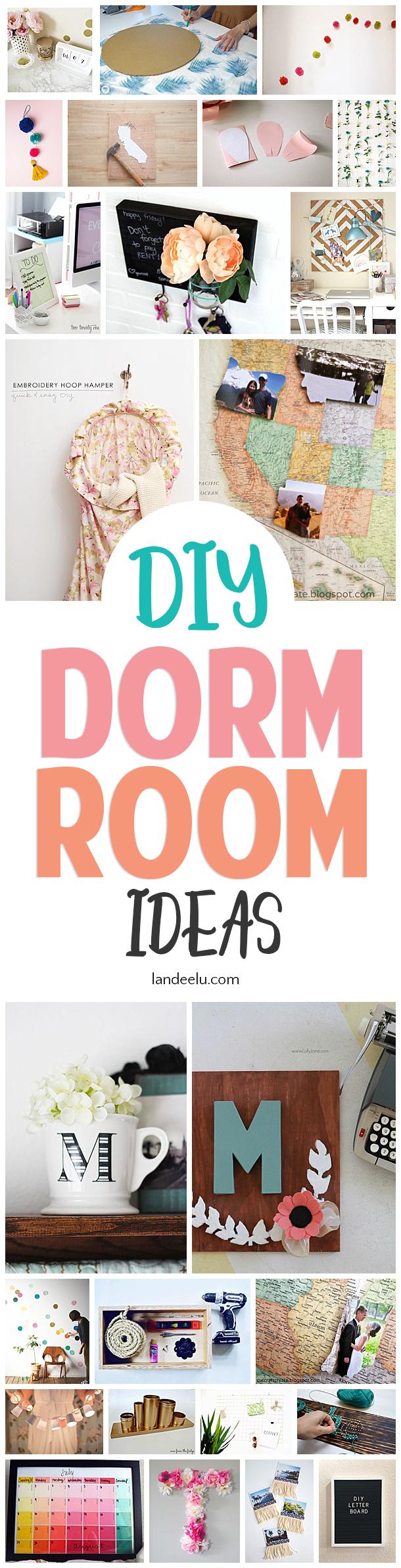 Super fun DIY dorm room ideas! #diydormroomideas #dormroom #collegedorms #diyprojects