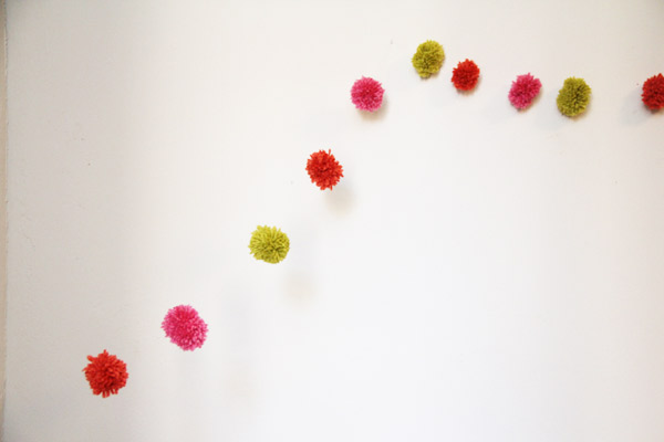 DIY Floating Pompom Garland | The Sweetest Occasion