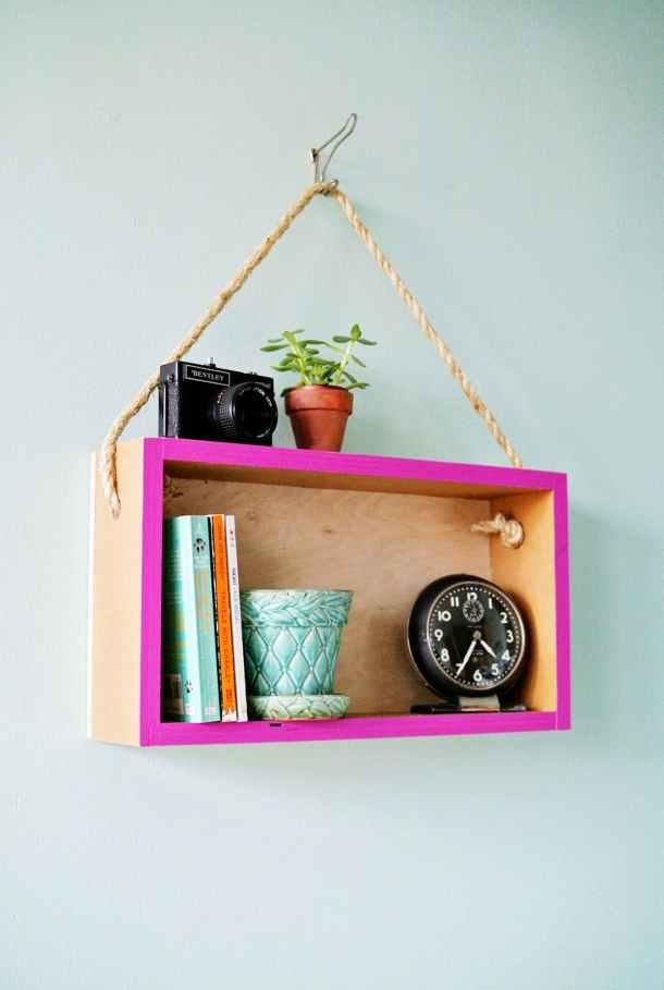 DIY Hanging Shelf | B+C