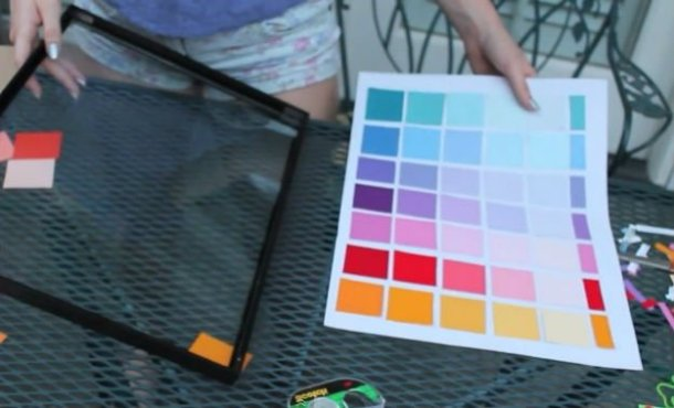 DIY Paint Chip Calendar | DIY Projects