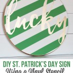 DIY St Patrick's Day Sign that is so fun to make! #stpatricksdaycraft #stpatricksdaydecor #handmadesign #luckydecor
