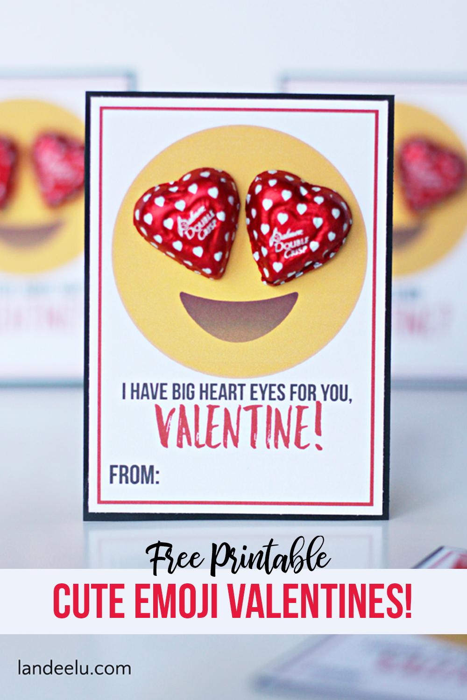 image relating to Printable Valentines Pictures titled Emoji Printable Valentines - Lovable Enjoyment Emoji Printable