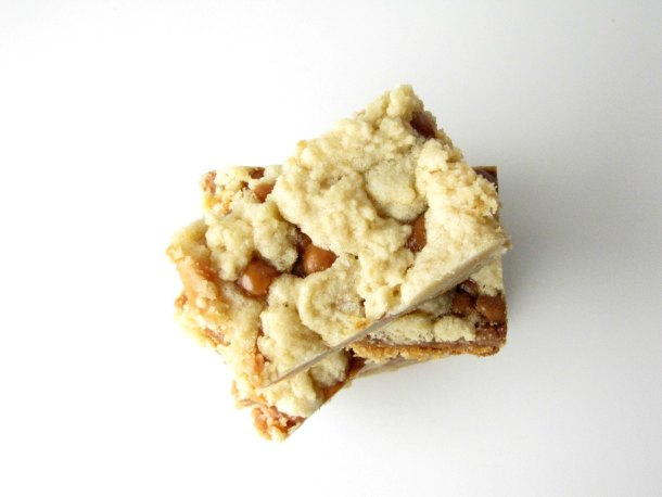 Slow Cooker Salted Caramel Cookie Bars | Slow Cooker Gourmet