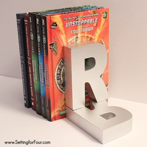 DIY Monogram Bookends | Setting for Four