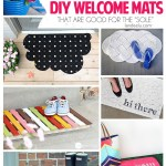 DIY Welcome Mats | landeelu.com Make your doormat exactly how you want it! Lots of inspiring ideas here! #welcomemats #DIYwelcomemat #frontporch #diycraft #homedecor