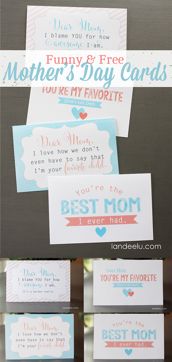 These free Mother's Day cards are hilarious! Easy to download and give to mom this Mother's Day... plus she will love how funny they are! #freemothersdaycards #instantdownload #freemothersdayprintable #freeprintable #mothersday #mothersdaygift
