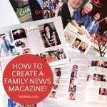 Create a yearly family news magazine to keep family in touch from all over the world! It's a family treasure for sure. #familyhistory #familynewsletter #familymagazine #selfpublish