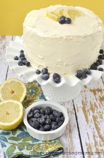 Lemon Blueberry Marble Cake | Your Homebased Mom