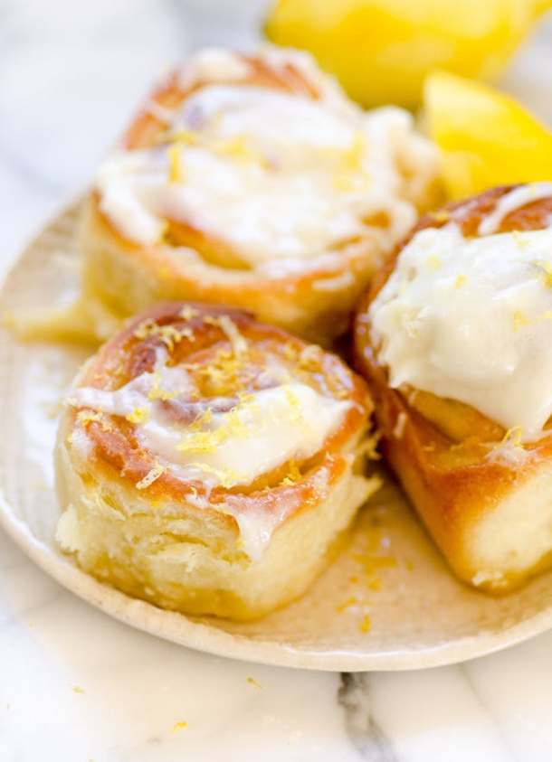 Sticky Lemon Rolls with Lemon Cream Cheese Glaze | The Kitchen