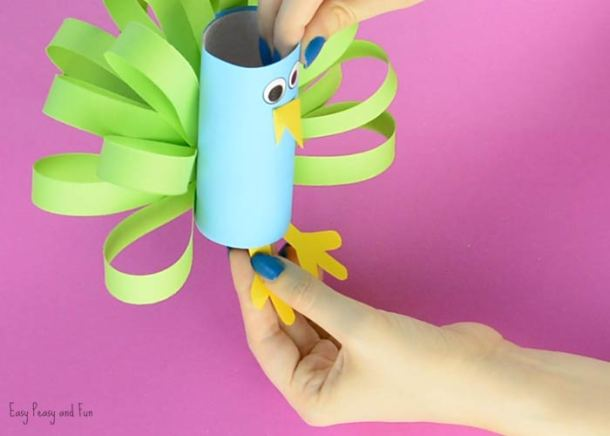 Toilet Paper Roll Peacock | Easy Peasy and Fun