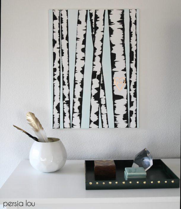 DIY Birch Tree Art | Persia Lou